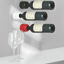 Wine Cell Wall Mounted Wine Bottle Holders Black White Red (Set of 3)