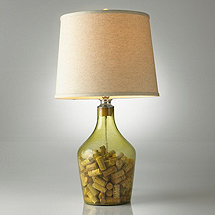 Napa Glass Cork Catcher Table Lamp (Light Tan Shade)