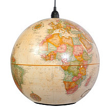 World Globe Pendant Light Antique (Large)