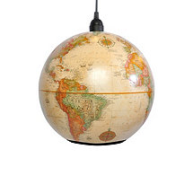 World Globe Pendant Light Antique (Medium)
