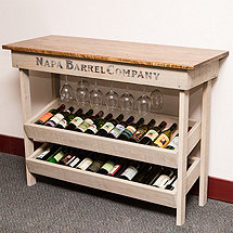 Napa Vineyard Wine Table Rack & Console