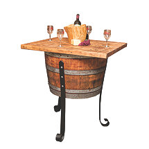 Reclaimed Wine Barrel Wine Cellar Table Island