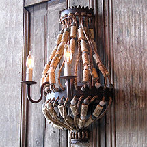 Luigi Wall Sconce with Corks