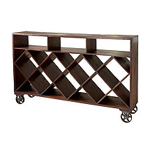 Wine Storage Console on Wheels