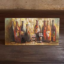 Abstract Wine Bottles Oil Painting (57 X 28)