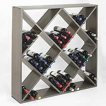 Jumbo Bin 120 Bottle Wine Rack (Stone Gray)