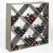 Jumbo Bin 120 Bottle Wine Rack (Stone Gray)