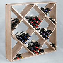 Jumbo Bin 120 Bottle Wine Rack (White Wash)