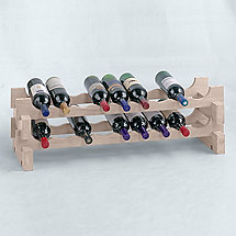 18 Bottle Stackable Wine Rack Kit (White Wash)