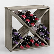 24 Bottle Compact Cellar Cube Wine Rack (Stone Gray)