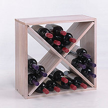 24 Bottle Compact Cellar Cube Wine Rack (White Wash)