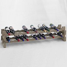26 Bottle Stackable Wine Rack Kit (Stone Gray)