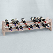 26 Bottle Stackable Wine Rack Kit (White Wash)