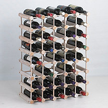 Modular 40 Bottle Pine Wine Rack (White Wash)