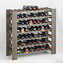 Swedish 63 Bottle Wine Rack (Stone Gray)