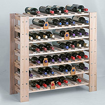 Swedish 63 Bottle Wine Rack (White Wash)
