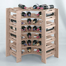 Swedish 42 Bottle Curved Corner Wine Rack (White Wash)