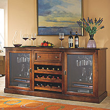 Siena Wine Credenza Walnut (Outlet)