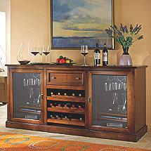 Siena Wine Credenza Walnut (Outlet)