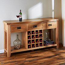 Montpellier Solid White Oak Wine Console
