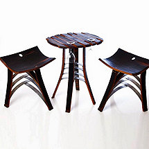 Wine Barrel Stave Bistro Set