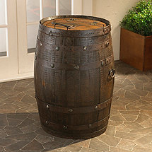Tequila Barrel Trash Can