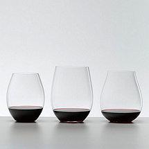 Riedel Big O Red Wine Tasting Set Stemless Wine Glasses (Set of 3)