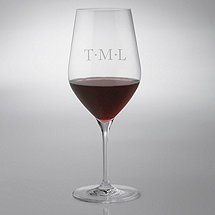 Personalized Diamond Spaced Fusion Classic Cabernet Wine Glasses (Set of 4)