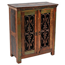 Beech 2 Iron Door Buffet Table