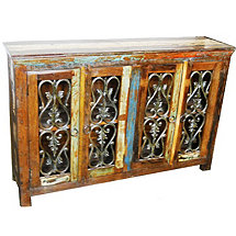 Beech 4 Iron Door Buffet Table