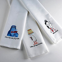 Life of the Party Embroidered Bar Towels (Set of 3)
