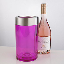 Double-Wall Iceless Wine Bottle Chiller (Pink)