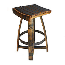 Whiskey Barrel Bar Stool with Memory Swivel