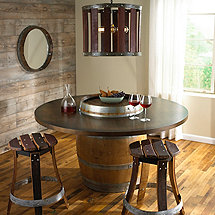 Reclaimed Barrel Dining Table