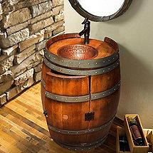Reclaimed Wine Barrel Vanity