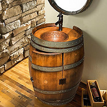 Reclaimed Wine Barrel Vanity