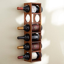 6 Bottle Wine Rack (Walnut)