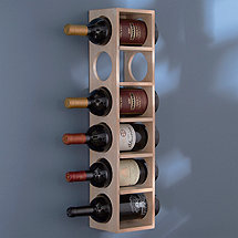 6 Bottle Wine Rack (White Wash)