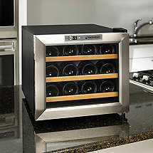 Wine Enthusiast Silent 12 Bottle Wine Refrigerator (Stainless Steel Trim Door) (Wood Shelves)