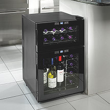 Wine Enthusiast Silent 24 Bottle Dual Zone Touchscreen