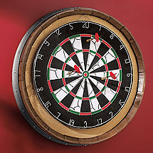 Reclaimed Barrel Head Dart Board