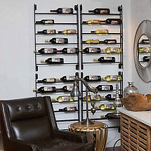 12 Bottle Wall Ladder Wine Rack