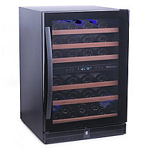 Wine Enthusiast 50 Bottle Dual Zone Wine Cellar (Full Glass Door)