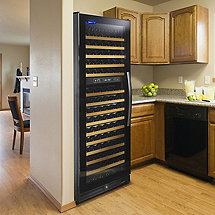 Wine Enthusiast 170 Bottle Dual Zone Wine Cellar (Full Glass Door Left Hinge)