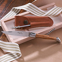 Laguiole Folding Pocket Knife & Corkscrew