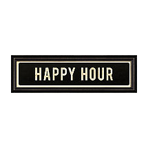 Happy Hour Street Sign