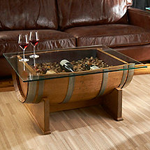 French Oak Barrel Cocktail Table (Natural Finish)
