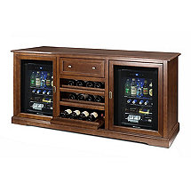 Siena Wine Credenza with Two Evolution Series Beverage Centers