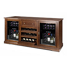 Siena Wine Credenza with Two 24 Bottle Touchscreen Wine Refrigerators