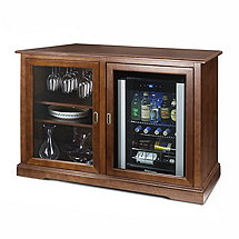 Siena Mezzo Wine Credenza (Walnut) and Evolution Beverage Center